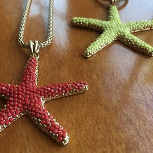Coral Starfish Necklace